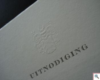 Letterpress, Preegdruk, Handgeschept papier